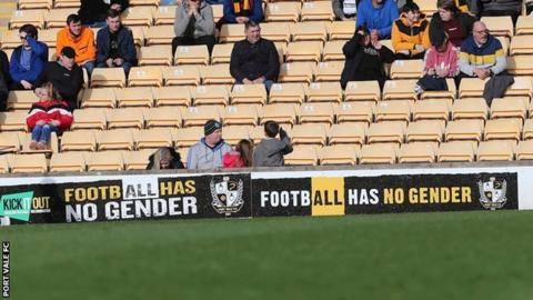 Port Vale believe they are the first football club in the country to display such an all-encompassing anti-abuse message to their fans