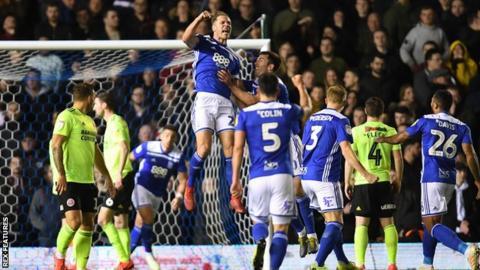 Michael Morrison celebrates drawing Birmingham level against Sheffield United
