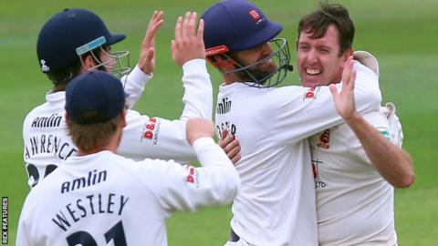 David Masters celebrate wicket