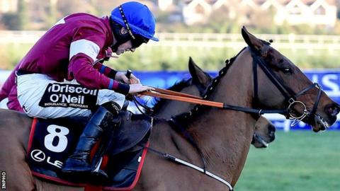 Outlander won the Lexus Chase at Leopardstown in December 2016