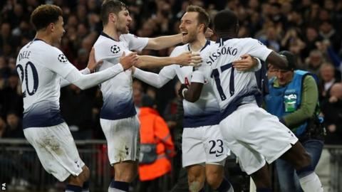 d1648789ba4 Tottenham 1-0 Inter Milan: Christian Eriksen scores late winner for ...