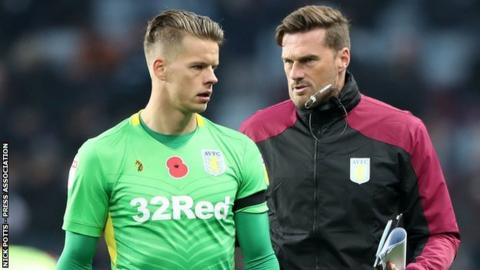 Friday's 2-0 win over Bolton was Aston Villa goalkeeping coach Neil Cutler's first game working with Orjan Nyland