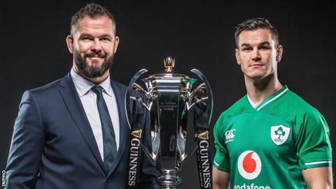 Ireland coach Andy Farrell and captain Johnny Sexton