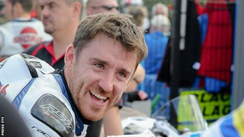 Lee Johnston set the pace in Superbike practice at the North West 200 on Tuesday