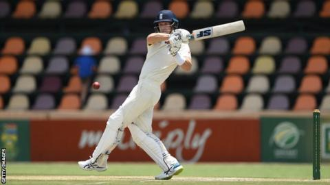 England batsman Joe Denly plays a shot during his century in a warm-up against South Africa A