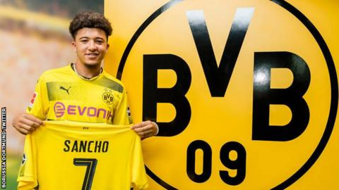 newest 57254 1ed7e Jadon Sancho: Borussia Dortmund signing had agreed new Man ...