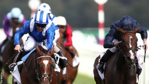 Enbihaar was 6-5 favourite to win the Park Hill Stakes at Doncaster