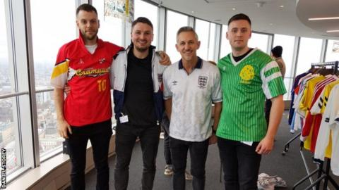 bfb919c83 Classic football shirts  The students-turned-entrepreneurs searching for  rare kits