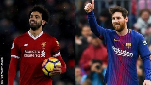 Mo Salah and Lionel Messi