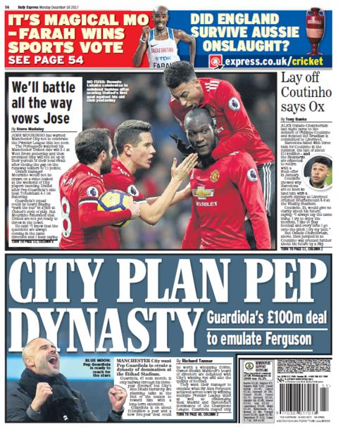 Daily Express on Monday