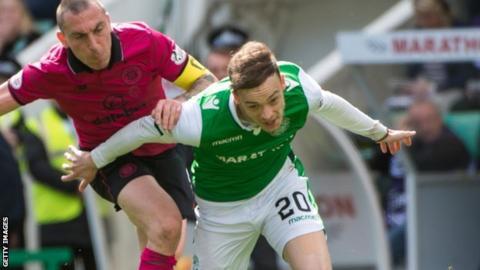 Brandon Barker encountered Celtic skipper Scott Brown when he spent last season north of the border on loan with Hibernian