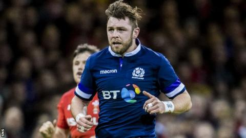 Ryan Wilson in action for Scotland against Wales
