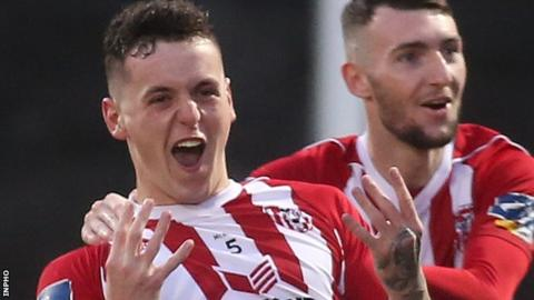 David Parkhouse: Derry City striker named in PFA Ireland team of the year