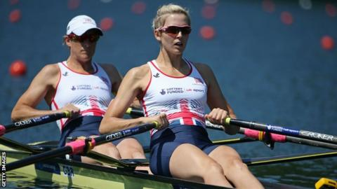 Katherine Grainger and Victoria Thornley (front) were sixth in the double sculls at the World Rowing Championships this year