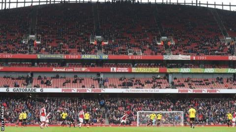 Arsenal play Watford at Emirates Stadium