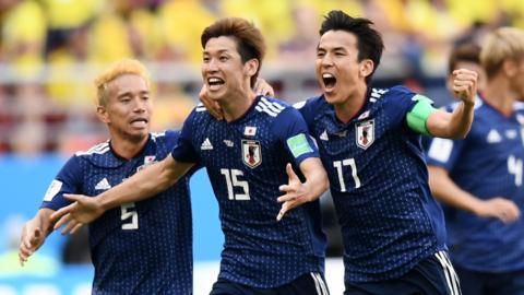 Japan second goal celebrate