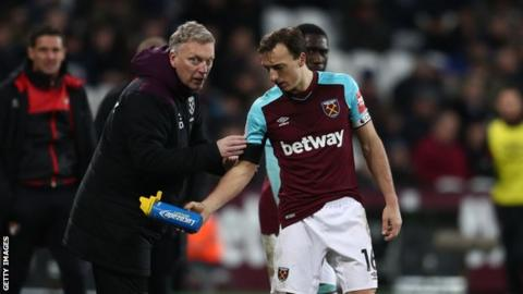 David Moyes and Mark Noble