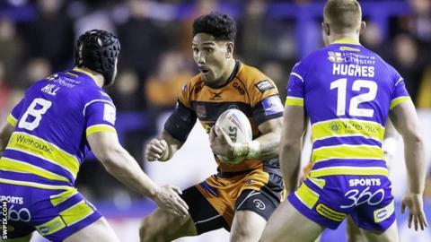 Jesse Sene-Lefao in action against Warrington
