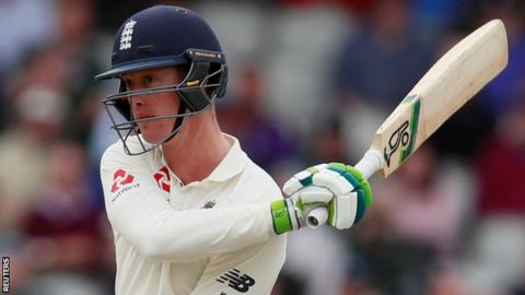Keaton Jennings reacts after being dismissed in the fourth Test