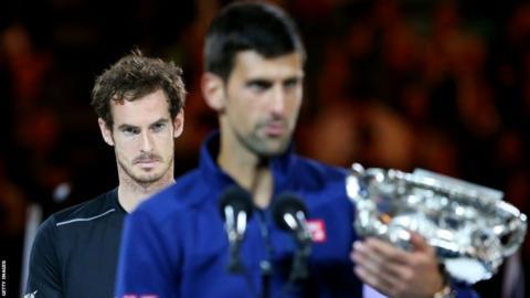 Andy Murray and Novak Djokovic after the 2016 Australian Open final