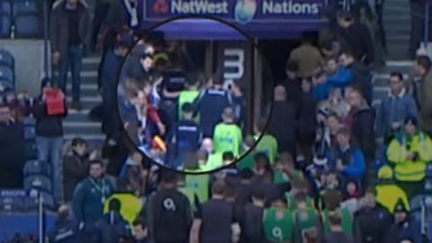 Pre-match scuffle