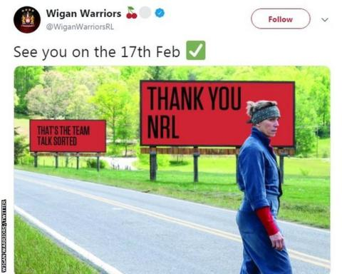 Wigan respond to Sydney Roosters 'World Champion' claim