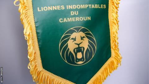 A team pennant for the Cameroon Women's football team