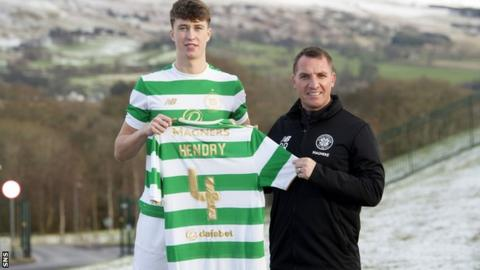 Celtic's new signing Jack Hendry and manager Brendan Rodgers