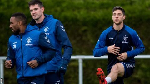 Matt Polster (right) during training with Rangers