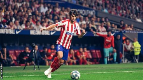 Joao Felix in action for Atletico Madrid