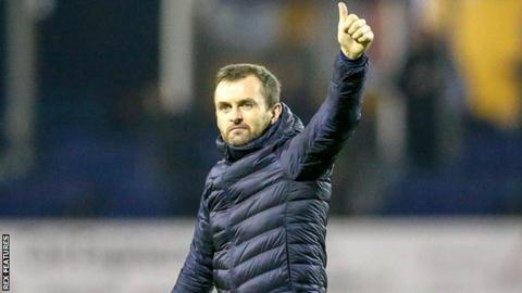 Nathan Jones during his time in charge of Luton