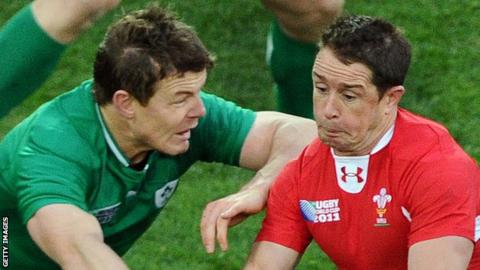 Brian O'Driscoll (left) and Shane Williams