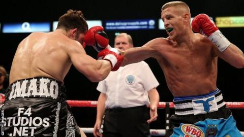 Terry Flanagan fighting Diego Magdaleno of the USA