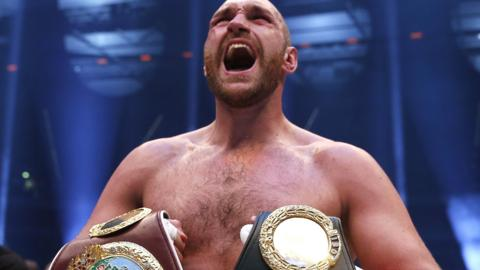 Tyson Fury won the IBF, IBO, WBA and WBO when he beat Wladimir Klitschko in 2015