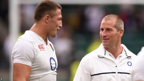 Sam Burgess (left) and Stuart Lancaster