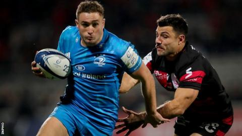 Rugby Jordan Larmour in action against Lyon in November