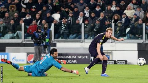 Harry Kane has scored seven of Tottenham's 16 Champions League goals this season