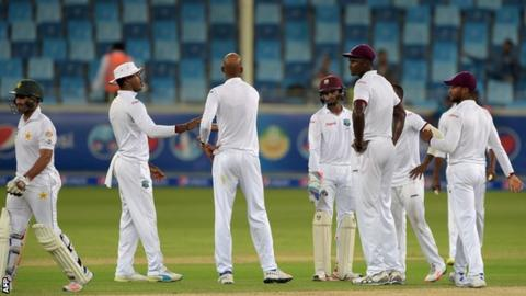 Pakistan against West Indies