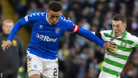 Callum McGregor, right, and James Tavernier both played in Sunday's Old Firm game