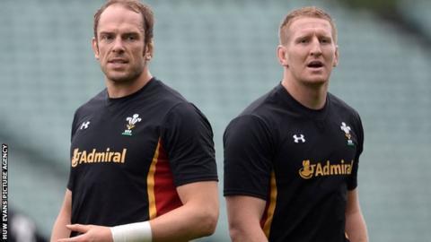 Alun Wyn Jones and Bradley Davies