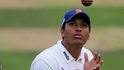 Essex batsman Kishen Velani