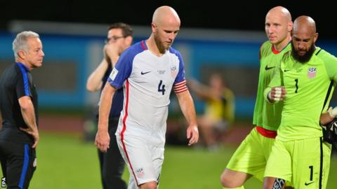 USA midfielder Michael Bradley