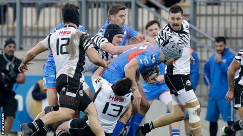 Zebre rugby v Scarlets