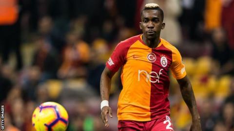 Henry Onyekuru playing for Turkish side Galatasaray