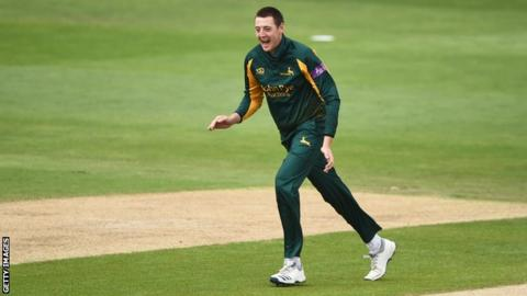 Matt Carter in action for Nottinghamshire