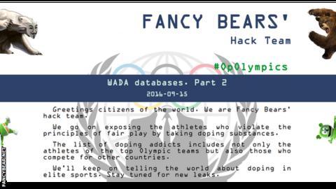 Fancy Bears homepage