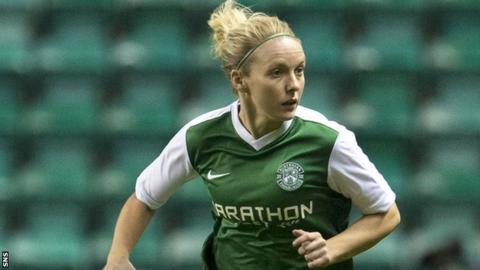 Hibernian midfielder Rachael Small