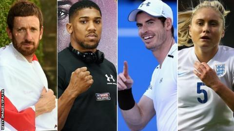 Sir Bradley Wiggins, Anthony Joshua, Andy Murray, Steph Houghton