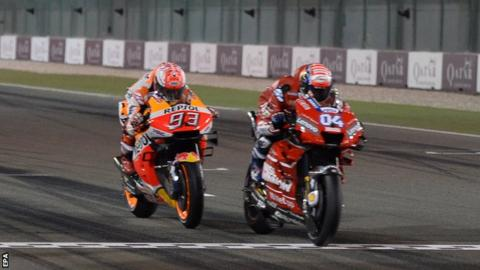 Andrea Dovizioso edges to victory in Qatar