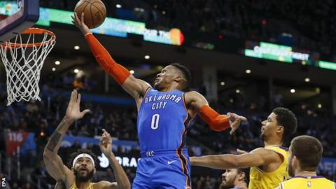 Russell Westbrook Drops 20-20-20 in Dedication to Nipsey Hussle